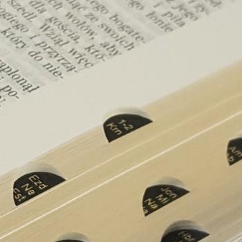 Biblia UBG F1 PU z indeksami czarny (grubszy papier)