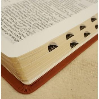 Biblia UBG F1 PU z indeksami brąz (grubszy papier)
