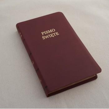Biblia UBG F1 PU z indeksami bordo (grubszy papier)
