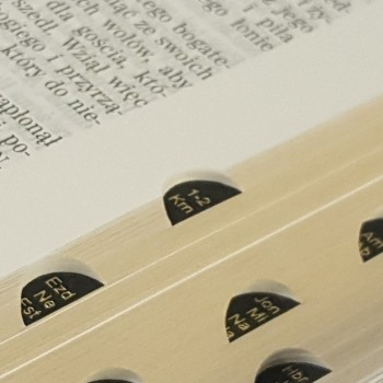 Biblia UBG Duża czcionka  F2 Twarda okładka, bordo