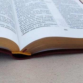 Biblia UBG Normalna czcionka F1 PU Czarna (cieńszy papier)