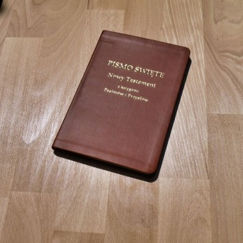 Biblia UBG F1 PU z indeksami granat GRUBSZY PAPIER