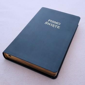 Biblia UBG Szeroki margines F3 Granat