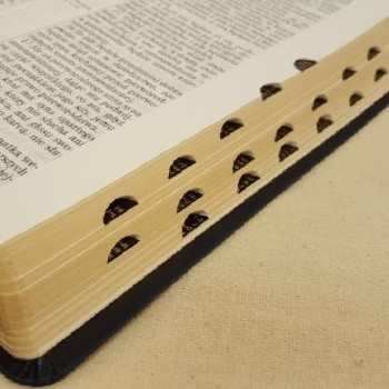 Biblia UBG F2 PU z Indeksami czarny