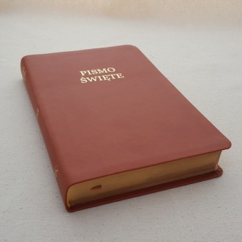 Biblia UBG Normalna czcionka  F1 PU Brąz (grubszy papier)